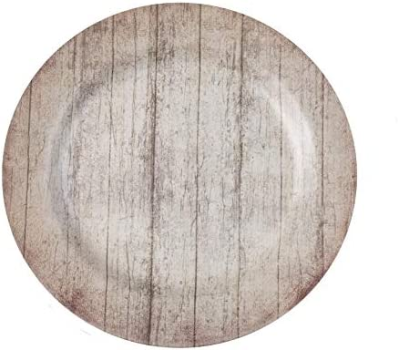 """Faux wood charger plates gray 13"""" Farmhouse Decor Set of 4 New"""