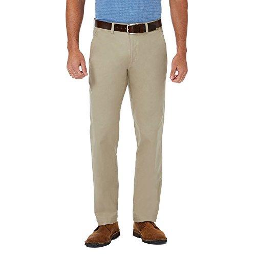 - Haggar HC00274 Men's Costal Comfort Chino Pant, Khaki - 44W x 32L