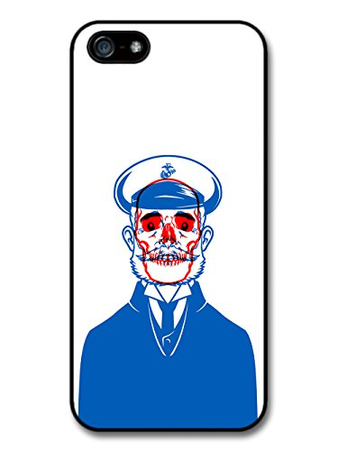 New Skull Captain Illustration in Red and Blue case for iPhone 5 5S