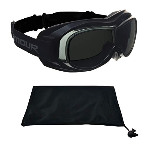 Fit over Glasses Goggles Polarized Anti Glare for Motorcycle Riding, Skiing, Cycling, Outdoor Activities (Best Polarized Motorcycle Goggles)