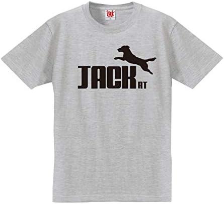 ジャックラッセル tシャツ アニマル 【 ジャックラッセルテリア ジャンプ 選べる8カラー 】 犬小屋 ハーネス 服 おもしろ プレゼント 雑貨 グッズ 面白い PRIME