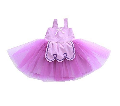 Sweetfruit® Kids Girls Fancy Party Tutu Skirt Birthday Costumes Dress (Purple, 120cm) ()