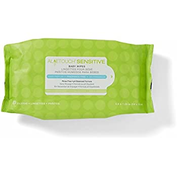 Medline AloeTouch Sensitive Baby Wipes, Cleansing Cloths, 1920 Count, Unscented, 5.5 x 6 inch Baby Wipes
