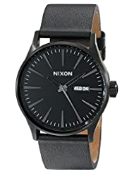 Nixon Men's NXA105001 Ion-Plated Black Dial Watch