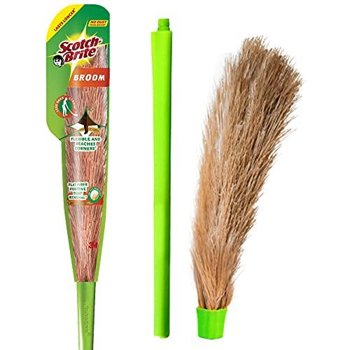 Scotch-Brite-No-Dust-Fibber-Broom-Multi-Purpose-Green