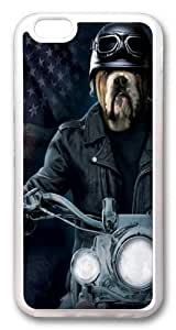 iphone 6 plus Case, iphone 6 plus Cases -Biker Sam Bulldog TPU Rubber Soft Case Back Cover for iphone 6 plus 5.5 inch Transparent