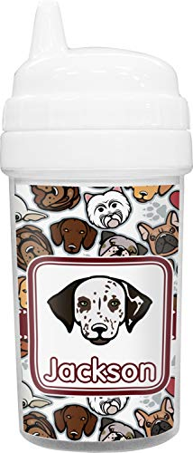 Dog Faces Toddler Sippy Cup (Personalized)