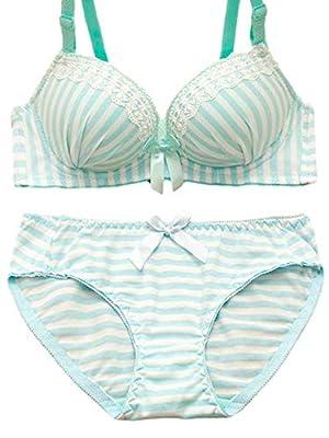 P-LINK Stripe Kwaii Lolita Cute Costume Lingerie Set Underwear