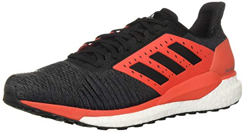 (adidas Men's Solar Glide ST Running Shoe, Black/hi-res red, 10.5 M US)