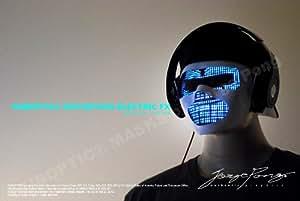 DJ Mask-LED Light Up MASK/ HUBOPTIC Distortion ELECTRIC FX Mask/Standard White mask base