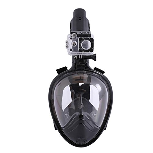 NewKelly Full Face Snorkeling Snorkel Mask Diving Goggles W/Breather Pipe For GoPro (H) -