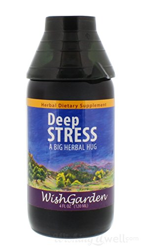 Wishgarden Herbs - Deep Stress, Organic Herbal Stress Relief, Combination of Ten Soothing Herbs Support Normalized Mood & Energy 4oz