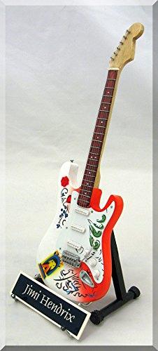 JIMI HENDRIX Miniature Guitar Replica Monterey Pop w/ name tag