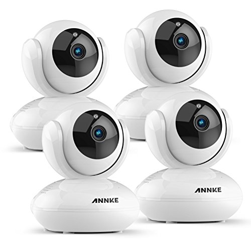 Cheap ANNKE 1080P Home Camera, 4x Indoor Wireless IP Security Surveillance System with Night Vision for Home/Office/Baby/Pet Monitor with iOS, Android App – Smart App Push Alerts