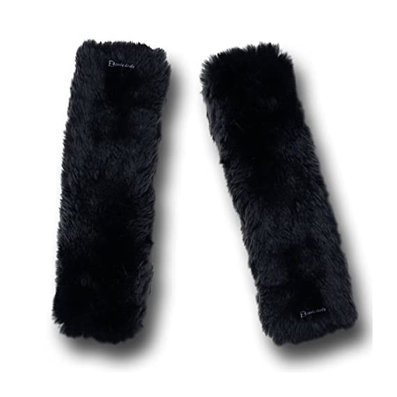 Zento Deals Soft Faux Sheepskin Seat Belt Shoulder Pad- Two Packs- A Must Have for All Car Owners for a More Comfortable Driving (Black) - 41m mGpCYpL - Zento Deals Soft Faux Sheepskin Seat Belt Shoulder Pad- Two Packs- A Must Have for All Car Owners for a More Comfortable Driving (Black)