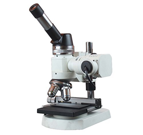Radical 40-600x Ferrous /& Non Metal Testing Lab Compact Metallurgical Reflected Light Microscope w Polarizer and XY Stage for Rock Minerals and Metals