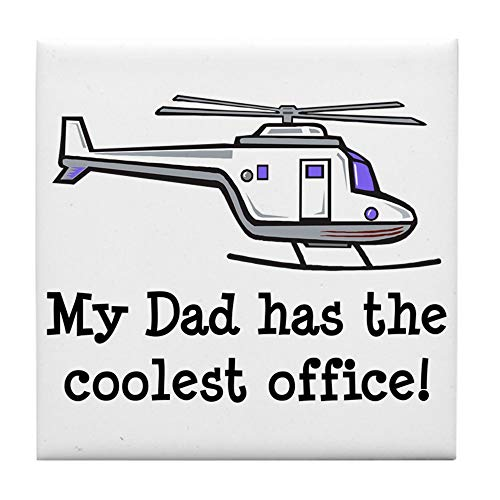 CafePress Dad's Helicopter Tile Coaster, Drink Coaster, Small Trivet
