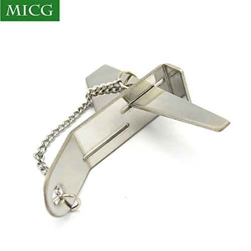 Security Hasp Latch Lock No Installation Portable Convenient Hotel Stainless Steel Door Lock (Double Slot, 1pcs) by MICG