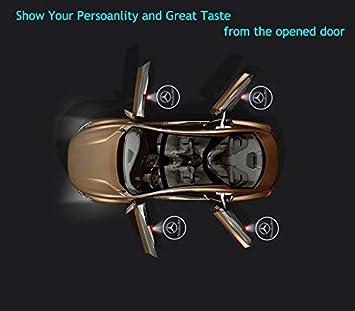 2Pcs Universal Wireless Car Door LED Projector Light Laser Emblem Logo Lamps Car Courtesy Welcome Logo Shadow Ghost Light Mercedes Benz-logo 2