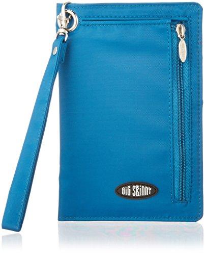 Big Skinny Women's RFID Blocking Plus Size myPhone Bi-Fold Slim Wallet, Holds Up to 20 Cards, Ocean Blue