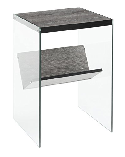 - Convenience Concepts Soho End Table, Weathered Gray