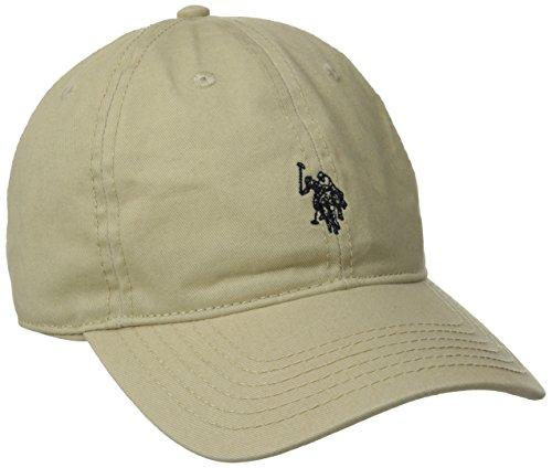 U.S. Polo Assn. Men's Washed Twill Baseball Cap, 100% Cotton, Khaki, One Size
