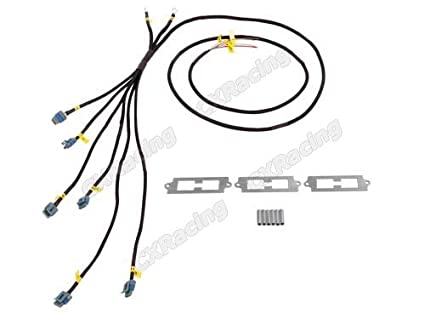 Astounding Amazon Com Cxracing Lq9 Lq Coil Pack Aluminum Bracket Wire Harness Wiring Cloud Hisonuggs Outletorg