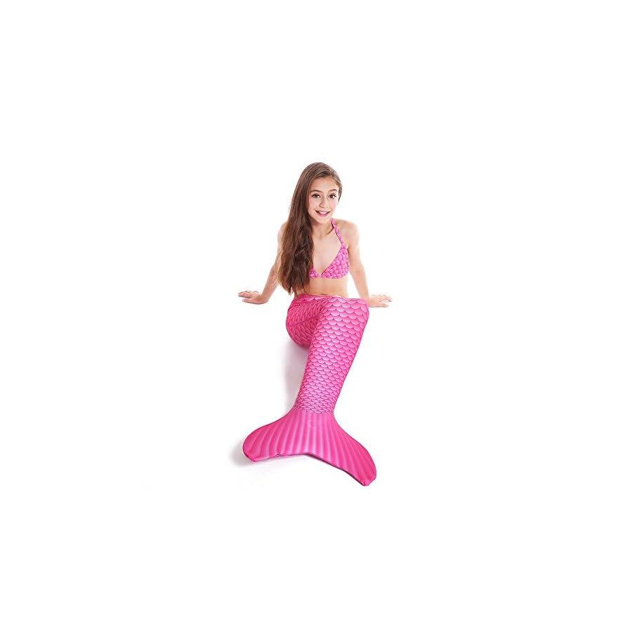MYLEMERMAID Lycra Kids Size Swimwear with Monofin Mermaid Tails for Swimming