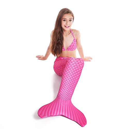 MYLEMERMAID Lycra Kids Size Swimwear with Monofin Mermaid Tails for Swimming