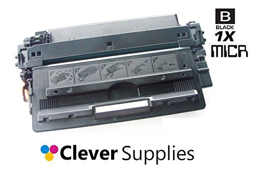 Clever Supplies© New Professionally Remanufactured Toner Cartridges Black for HP 70A MICR, HP LaserJet M5025, M5025MFP, M5035, M5035MFP, M5035X, M5035XMFP, M5035XS, M5035XSMFP (Q7570A) (70a Laserjet)