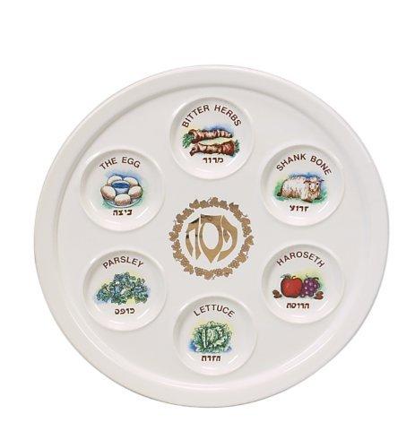 Vintage Look Ceramic Passover Seder Plate - 10.5 Inch Round  sc 1 st  Amazon.com & Amazon.com: Vintage Look Ceramic Passover Seder Plate - 10.5 Inch ...