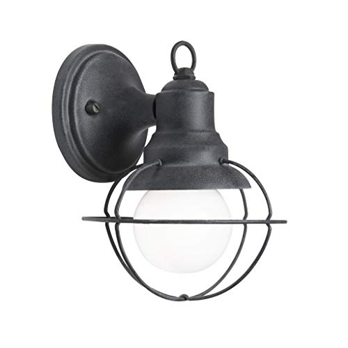Aztec Sconce - Aztec Lighting Transitional 1-Light Weathered Zinc Outdoor Wall Sconce