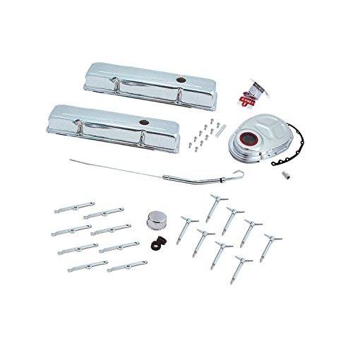 Kit Small Dress Up Block - Spectre Performance 5403 Chrome Short Deluxe Dress Up Kit for Small Block Chevy