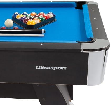Ultrasport Mesa de Billar de 8 pies Diamond, con 2 Tacos, Juego de ...