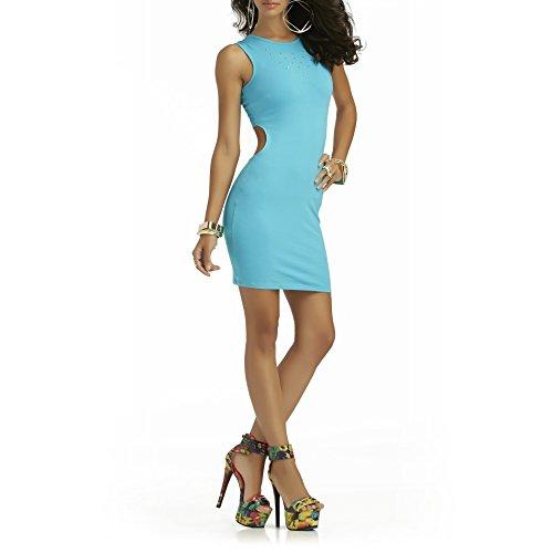 Nicki Minaj Women`s Cutout Sheath Dress Studded, XS