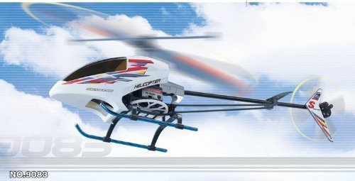 3d Rc Helicopter (RC 3D Forwarding Helicopter SYMA 9083 with Exhaust & Metal Landing Gear R/C Heli Radio Control Chopper)