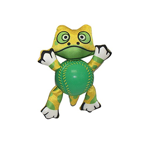 "Multipet 36032 8"" Frog Ani Balls Plush Animal with Squeaker"