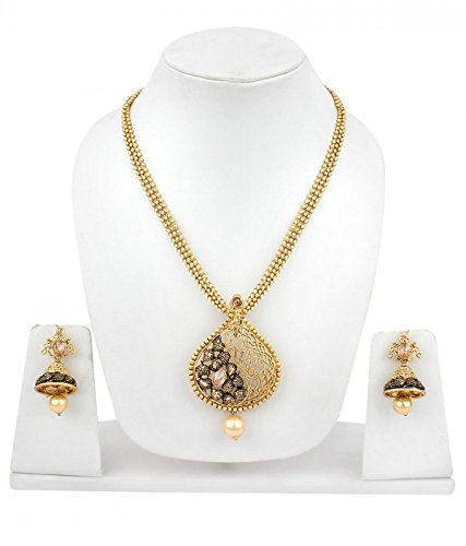 Buy Penny Jewels Alloy Party Wear Fashion Designer Stylish Simple Fancy Necklace Set With Earring For Women Girls At Amazon In