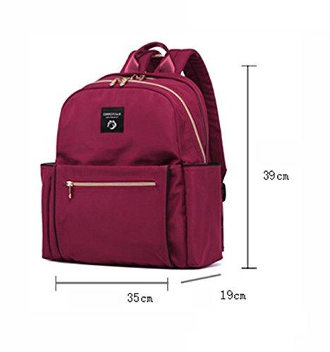 Bolsa de hombro multi-funcional paquete de gran capacidad de la madre, simple bolso de la momia de la moda, salir bolsa de bebé ( Color : Rojo ) Negro