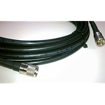 100ft RG8u Coax Cable with AMPHENOL PL259s attached | US Made RG-213 or RG-8 Coaxial cable with PL-259 Connectors made in USA (TM)