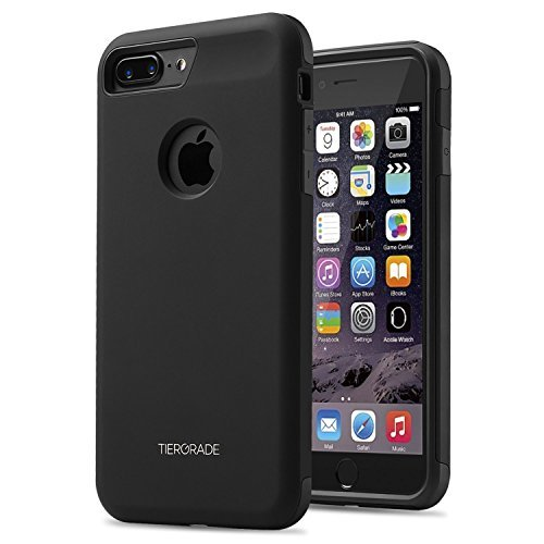 iPhone 7 Plus Case, iPhone 7 Plus Protective Case, Tiergrade Anti Scratch Resistant Shockproof Slim Fit Easy Grip Dual Layer Full Drop Protection Case Cover for Apple iPhone 7 Plus Matte Black
