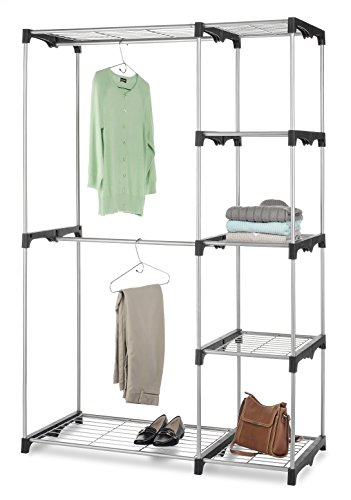 whitmor-6779-3044-double-rod-freestanding-closet-with-steel-and-resin-frame-452-by-68-inch-silver