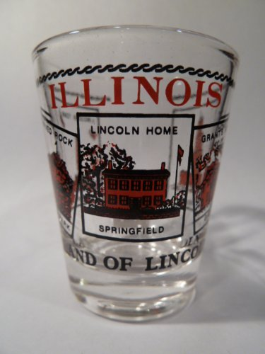 Illinois Scenery Red Shot Glass