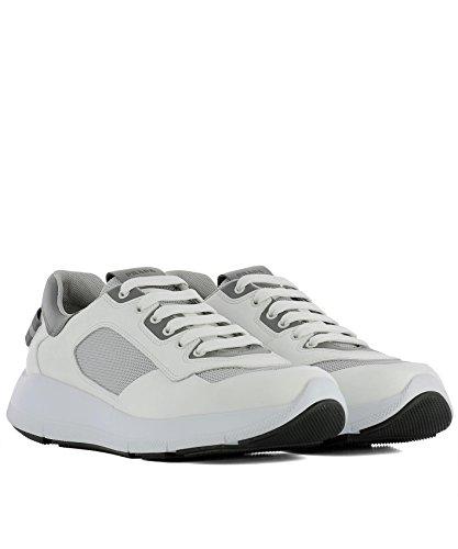 Herren 4E3172108NF0009 Prada Weiss Sneakers Leder Bpaqwd05q