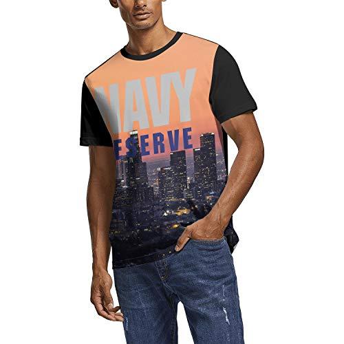 (Mens Raglan Shirt Navy Reserve Logo Novelty T-Shirt for Men Breathable Premium Raglan)