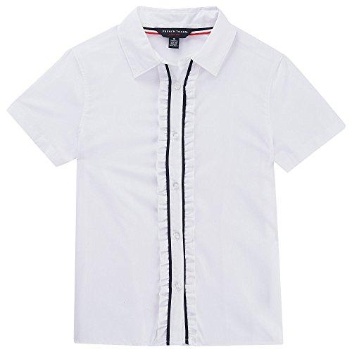 Ruffle Button Down Shirt - 5