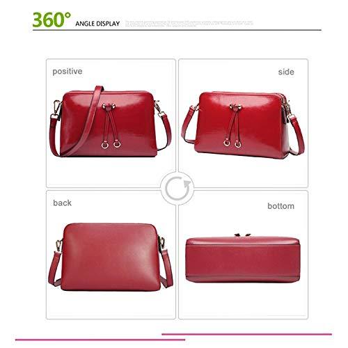 Brown petit véritable bandoulière Double sac sac Zip sac bandoulière bandoulière rouge à Sac à à cuir femmes Yoome à en bandoulière gWqHwnCO
