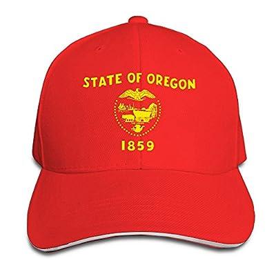 WellShopping Oregon Flag Element Design Custom Sandwich Peaked Cap Unisex Baseball Hat