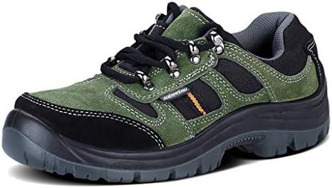 作業靴 男性の安全靴安全鋼つま先キャップ作業男性の屋外鋼PUソールスリップ耐摩耗性 スエード、通気性裏地、抗ダニおよびパンクチャ 安全靴 (サイズ さいず : 44)