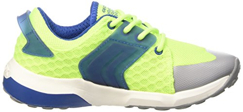 GEOX J ASTEROID BOY A - Zapatillas para niños Multicolor (Fluo Yellow / Royal)